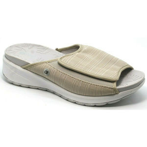 Bzees Womens Galaxy Slide Slip On Taupe Sandals
